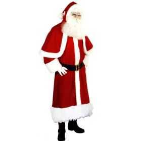 Superbe Déguisement de Père Noel effet velours