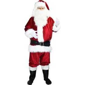 Superbe Déguisement de Santa Claus effet velours