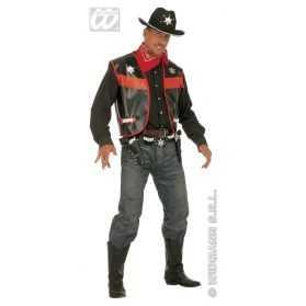 1 Gilet de Cowboy noir Homme