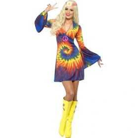 Déguisement Robe bariolée de Femme hippie