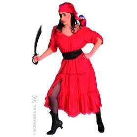 Déguisement rouge Corsaire femme
