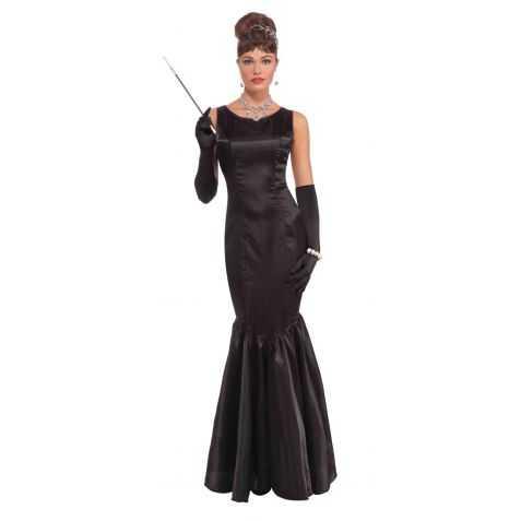 Assez déguisement haut de gamme robe noire star hollywoodienne taille 38  YS12