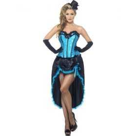 Déguisement bleu et noir Danseuse de Cabaret