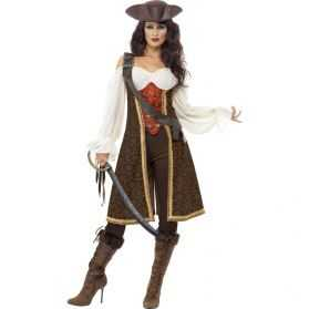Déguisement Aventurière pirate femme