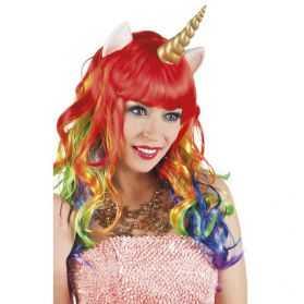 Perruque pour se déguiser en Licorne
