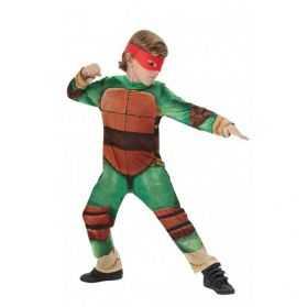 Déguisement Tortue Ninja enfant avec 4 masques