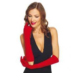 Gants de soirée femme longs et rouges