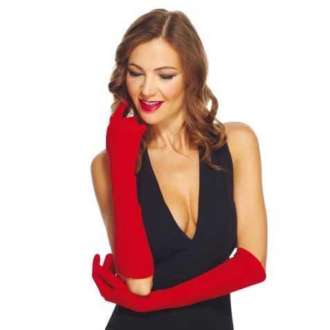 Gants rouges pour se déguiser