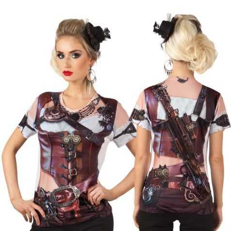 Tee shirt Steampunk femme photoréaliste