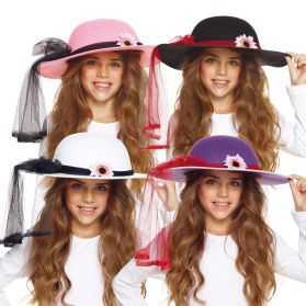 1 Chapeau déguisement fille avec fleur
