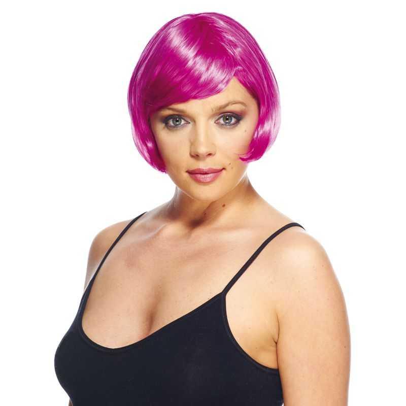 Perruque déguisement femme avec cheveux coeurts