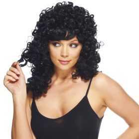 Perruque femme cheveux bouclés