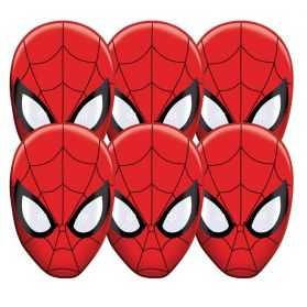 6 Masques carton Spiderman