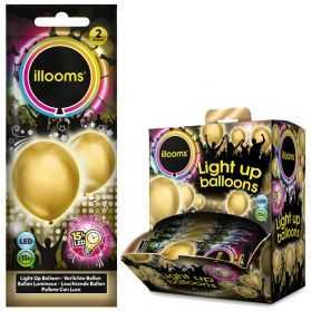 2 ballons Dorés lumineux