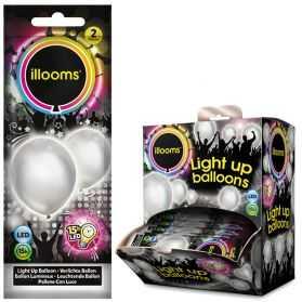 Ballons lumineux argent