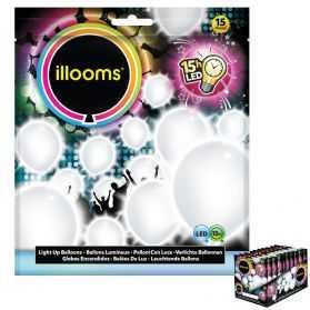 15 ballons lumineux blancs