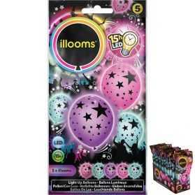 5 ballons étoiles lumineux
