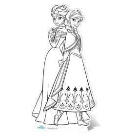 Figurine Reine des Neiges à colorier