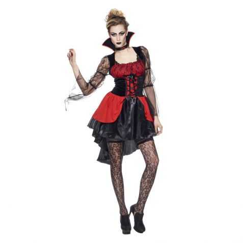 robe courte vampire femme adulte vente d guisements halloween femme. Black Bedroom Furniture Sets. Home Design Ideas