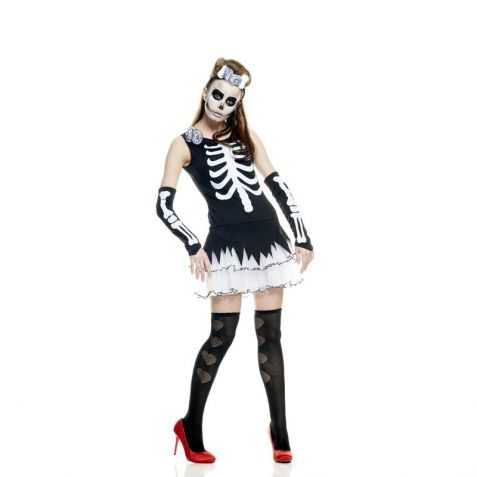 Robe déguisement Squelette sexy