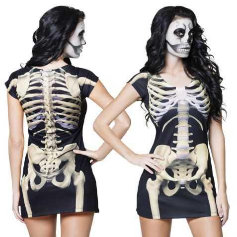 Robe avec imprimé Squelette taille M