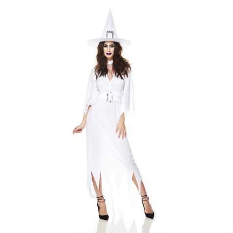 Robe blanche de Sorcière adulte