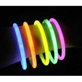 Tube de 100 bracelets lumineux assortis