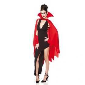 Cape rouge de Diable femme