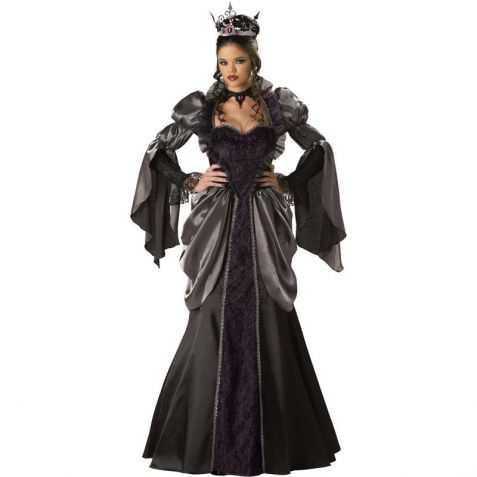 Robe de Reine adulte noire