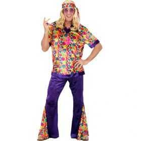 Déguisement hippie à fleurs homme