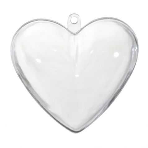 Boule de Noel transparente en forme de Cœur