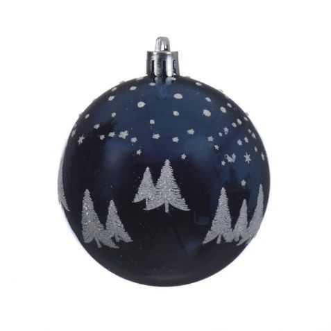 Boule de Noel avec motif Paysage enneigé