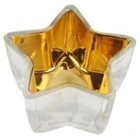 Photophore en forme d'étoile doré
