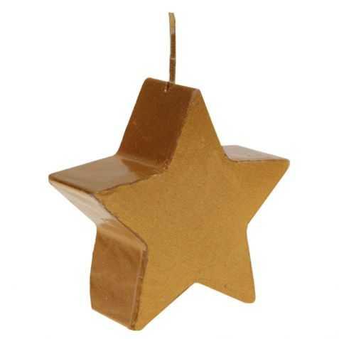 Bougie de table dorée en forme d'étoile