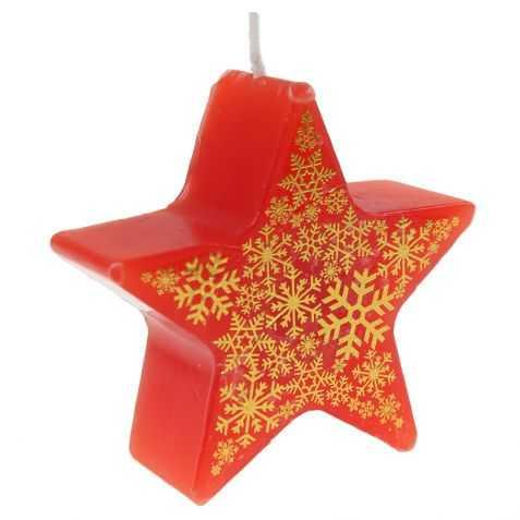 Bougie de Noel rouge