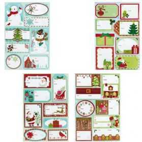 Etiquettes adhésives pour cadeaux de Noel