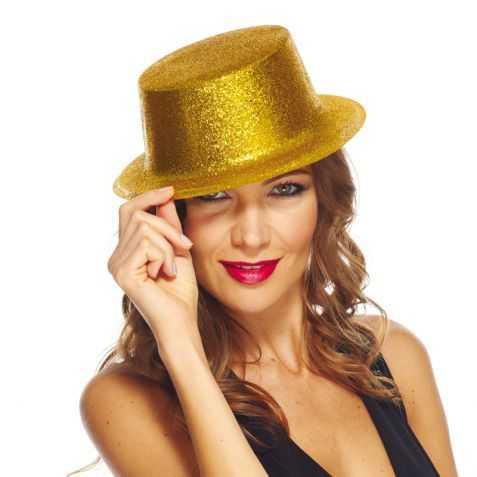 Chapeau haut de forme doré