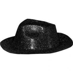 Chapeau Capone à paillettes