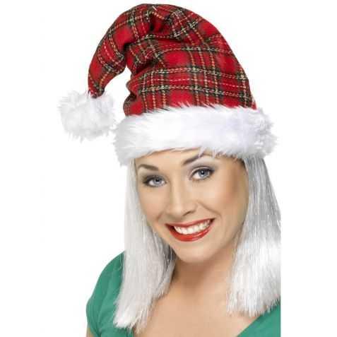 Bonnet de noel motifs écossais