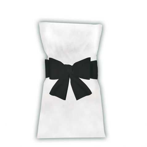Noeuds noirs pour housses de chaises
