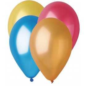 ballons de baudruche métallisés multicolores