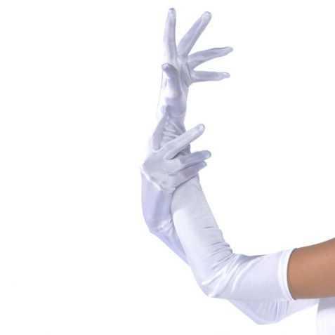 Gants blancS pour robe de soirée
