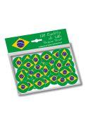 Confettis de table aux couleurs du drapeau brésilien