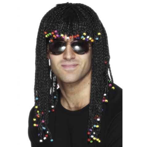 Perruque Chanteur de reggae avec cheveux longs