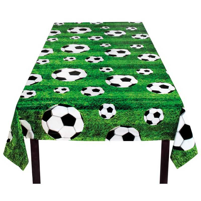 Nappe de table football nappe gouter d 39 anniversaire football - Decoration football pour anniversaire ...