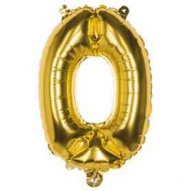 Ballon chiffre 0 doré