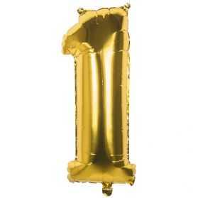 Ballon 1 an doré