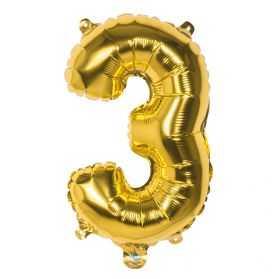 Ballon helium chiffre doré