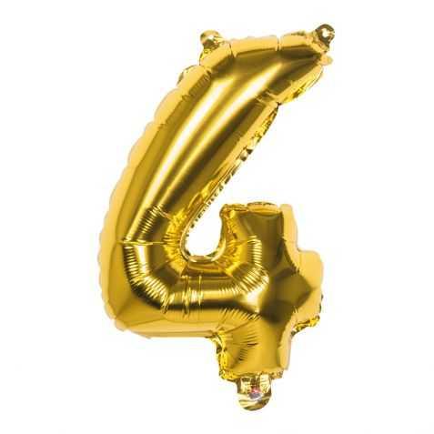 Ballon doré chiffre 4