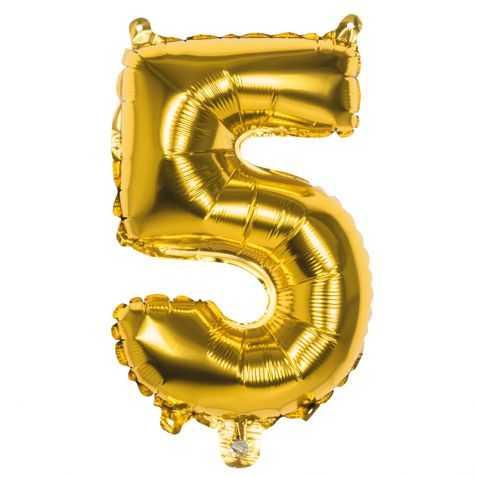 Ballon gonflable doré chiffre